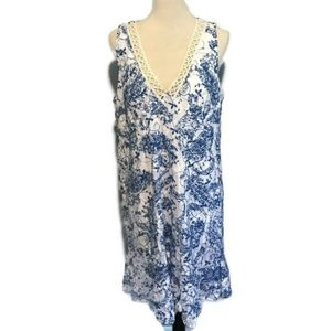 Altar'd State Blue White Paisley Shift Dress